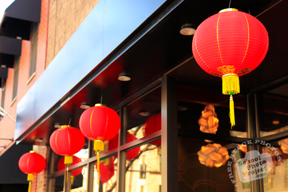 Chinese lantern, red lantern, oriental lanterns, Chinatown decoration, daily objects, free stock photo, picture, free images download, stock photography, royalty-free image