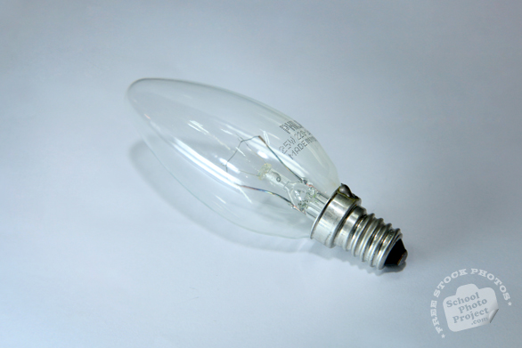 candle light bulb, clear light bulb, incandescent bulb, lighting fixture, daily objects, stock photos, free foto, free photos, free images download, stock photography, stock images, royalty-free image