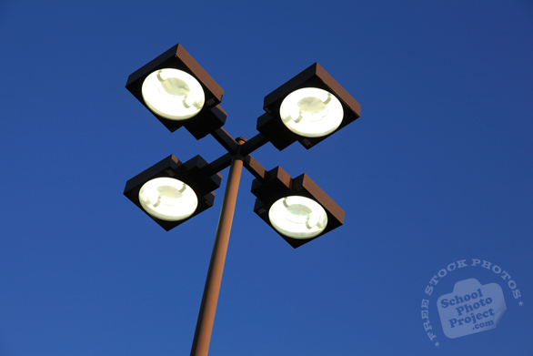 parking lot lighting, street light, daily objects, free stock photo, picture, free images download, stock photography, royalty-free image