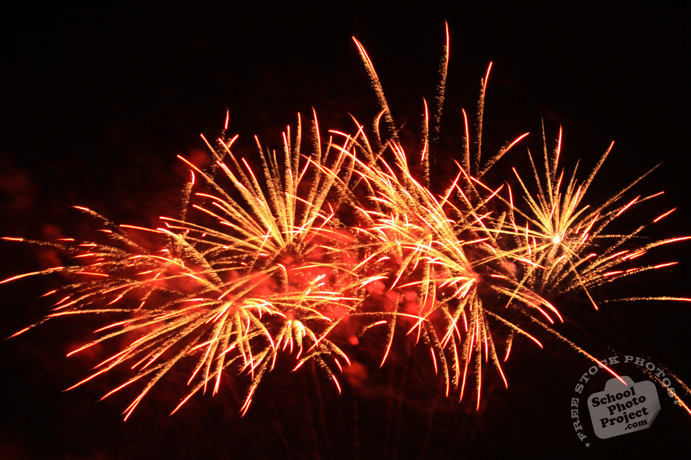 Red Fireworks Free Stock Photo: Diadem Fireworks, FREE Stock Photo, Image, Picture: New