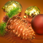 pinecone, bauble, glass balls, Christmas decoration, Xmas ornaments, bauble, religious holiday, seasonal picture, holidays celebration, free stock photo, free picture, stock photography, royalty-free image