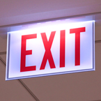 exit sign, building safety sign, free stock photo, free picture, stock photography, royalty-free image