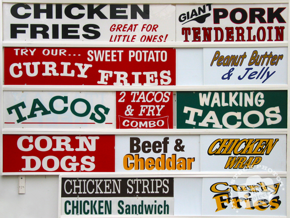 food vendor sign, menu sign, sign photo, business sign, restaurant sign, food sign, free photo, picture, free images download, stock photography, stock images, royalty-free image