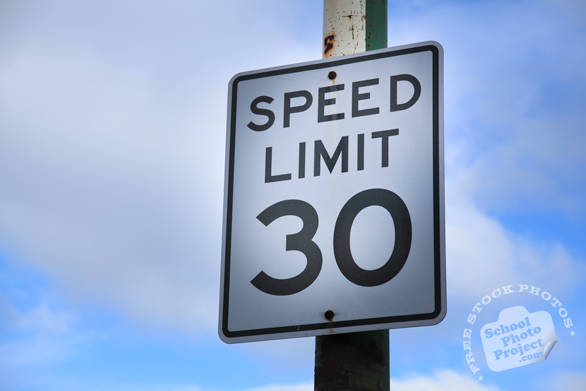speed limit 30 sign, 30mph sign, road sign, traffic sign, free stock photo, free picture, stock photography, royalty-free image