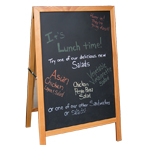easel sign, chalkboard sign, blackboard, food menu, menu sign, info sign, restaurant sign, free photo, picture, image, free images download, stock photography, stock images, royalty-free image