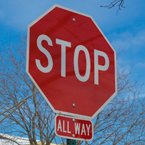 stop sign, stop all way sign, road sign, traffic sign, free stock photo, free picture, stock photography, royalty-free image