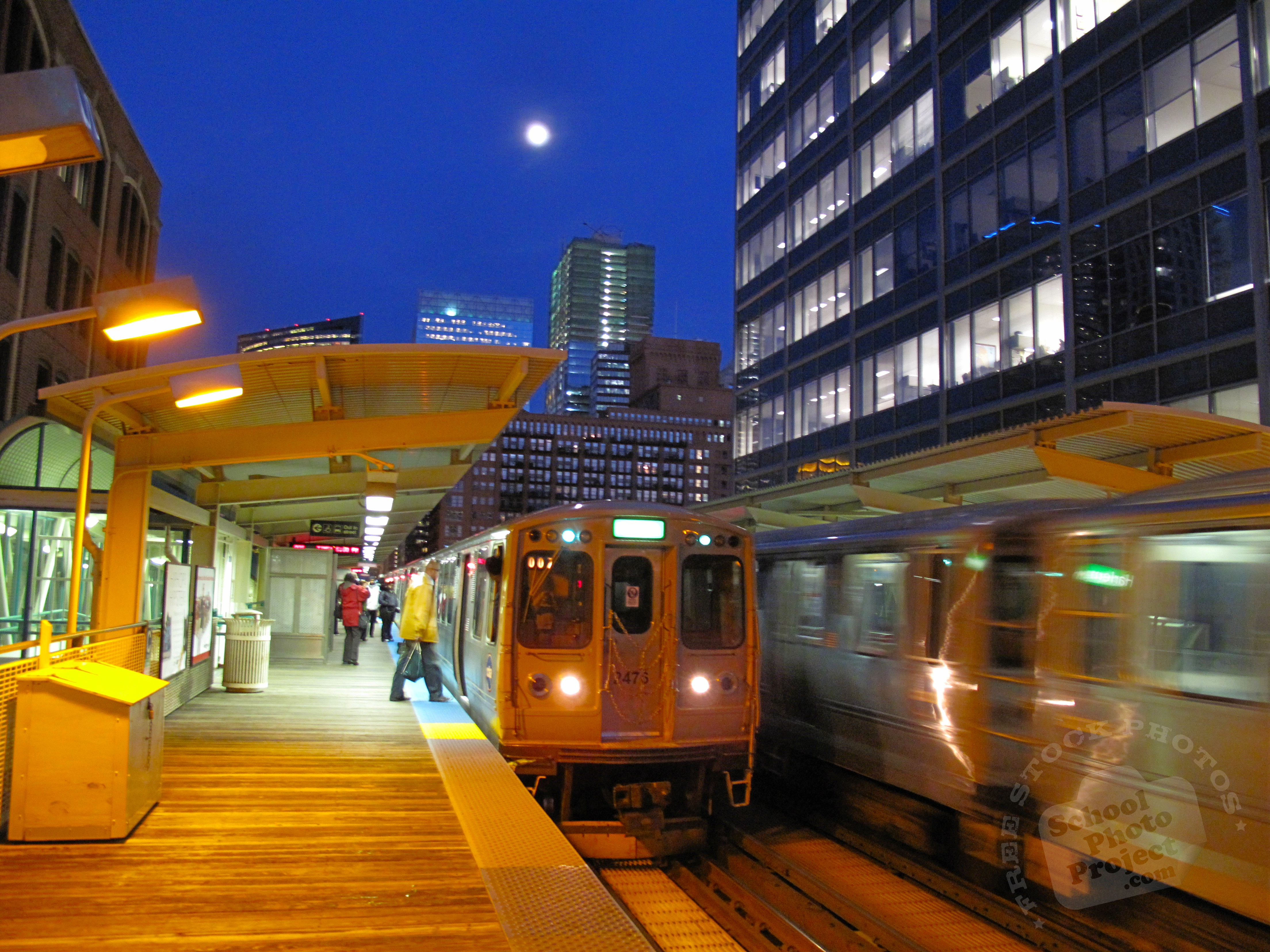 train free stock photo image picture commuter trains chicago