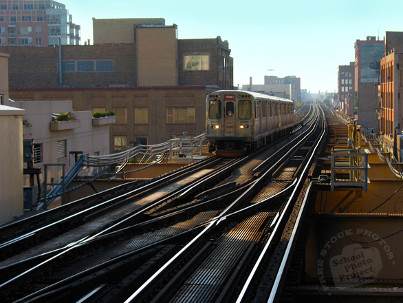 train, train station, train track, CTA Chicago, night train, public transportation, vehicle, free photo, stock photo, free picture, stock photography, royalty-free image