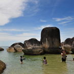 Belitung, Belitong, pulau Belitung, Belitung islands, Belitung beach, Bangka Belitung, kepulauan Bangka-Belitung, Indonesia tourism, sandy beach, coconut trees, palm trees, boulders, rock, seascape, sea side, travel photo, free photo, stock photo, stock photography, royalty-free image