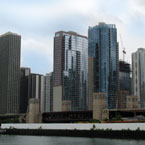 Chicago, skyline, skyscraper, river, architecture, building, photo, free photo, stock photos, royalty-free image