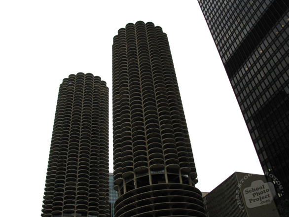 Marina Towers, Chicago landmark, skyscraper, architecture, building, photo, free photo, stock photos, royalty-free image