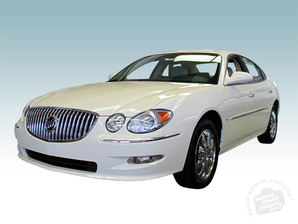 Buick, Buick LaCrosse, Buick sedan, white LaCrosse, new car, luxurious car, auto, automobile, free foto, free photo, picture, image, free images download, stock photography, stock images, royalty-free image
