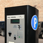 parking pay box, pay station, pay-to-park, parking meter, new parking meter, free stock photo, picture, free images download, stock photography, royalty-free image