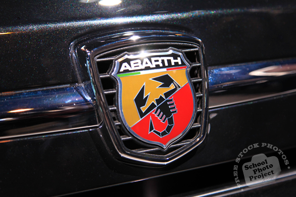 Abarth logo, racing car brand, Chicago Auto Show, stock photos, free images, royalty free pictures