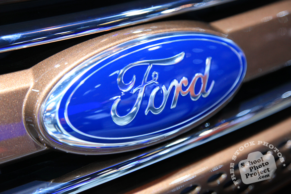 Ford Motor Company logo, Ford brand, Chicago Auto Show, stock photos, free images, royalty free pictures