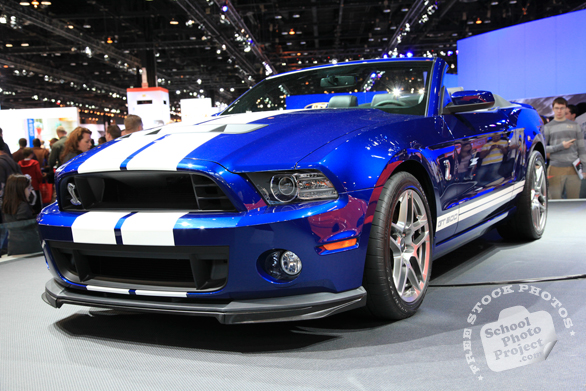 Ford Shelby Mustang GT500, Ford sports car, Chicago Auto Show, stock photos, free images, royalty free pictures