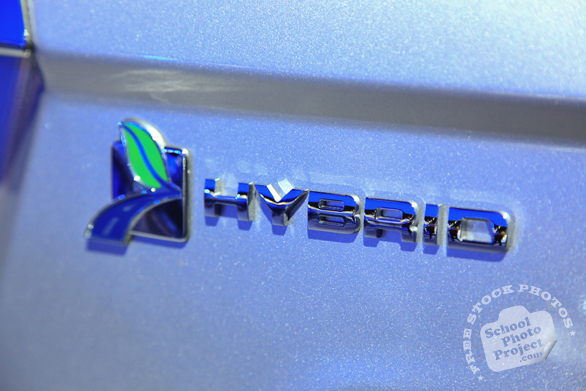 Ford Fusion Hybrid logo, Hybrid car, Chicago Auto Show, stock photos, free images, royalty free pictures