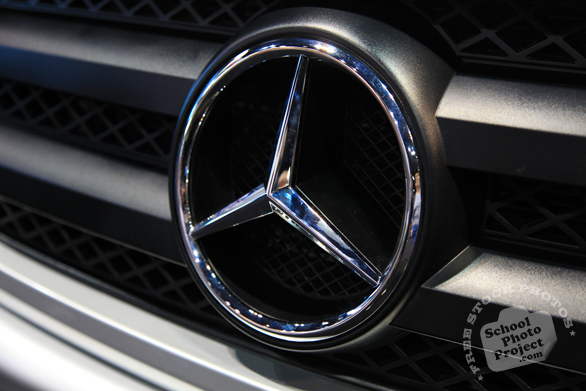 Mercedes Benz symbol, Chicago Auto Show, stock photos, free images, royalty free pictures
