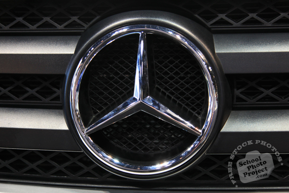 Mercedes Benz logo, famous car brand, Chicago Auto Show, stock photos, free images, royalty free pictures