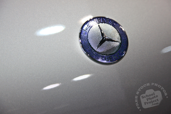 Mercedes Benz logo, classic logo, Chicago Auto Show, stock photos, free images, royalty free pictures