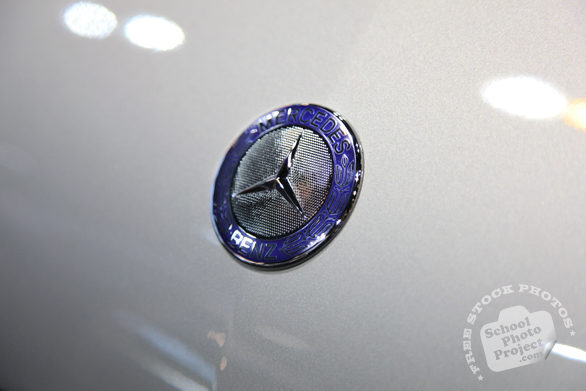 Mercedes Benz logo, glossy logo, Chicago Auto Show, stock photos, free images, royalty free pictures