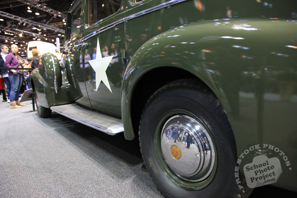 Military Cadillac, side door, Chicago Auto Show, stock photos, free images, royalty free pictures