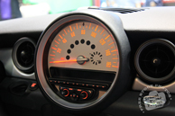 Mini Cooper dashboard, speedometer, Chicago Auto Show, stock photos, free images, royalty free pictures