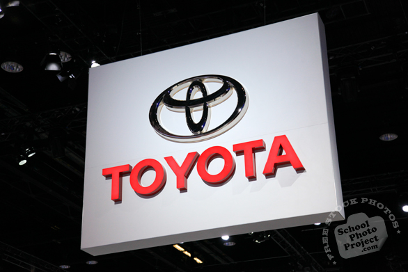 Toyota sign, Toyota logo, Chicago Auto Show, stock photos, free images, royalty free pictures
