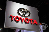 Toyota sign, Chicago Auto Show, stock photos, free images, royalty free pictures