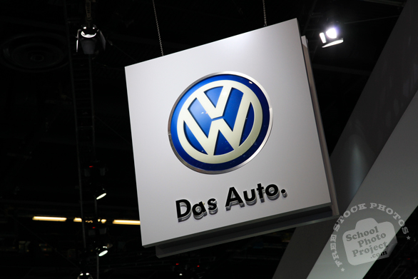 Volkswagen hanging sign, VW, Das Auto, Chicago Auto Show, stock photos, free images, royalty free pictures