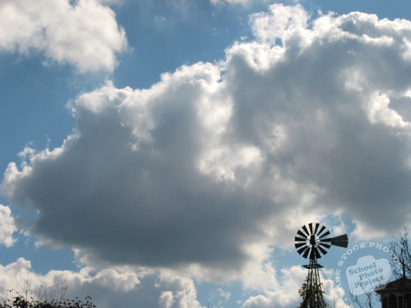 cumulus clouds, windmill, clouds, sky, cloudscape, weather, sky photo, free foto, free photo, stock photos, picture, image, free images download, stock photography, stock images, royalty-free image