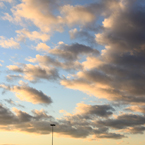 sunset, dusk, cloudy, cumulus clouds, dramatic clouds, sky, cloudscape, weather, sky photo, free photo, stock photos, royalty-free image