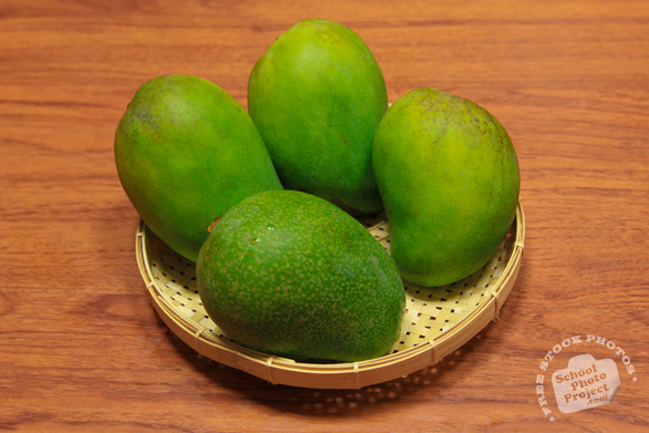 mangos, green mangos, fresh mango photos, tropical fruit photo, free stock photo, free picture, free image download, stock photography, stock images, royalty-free image