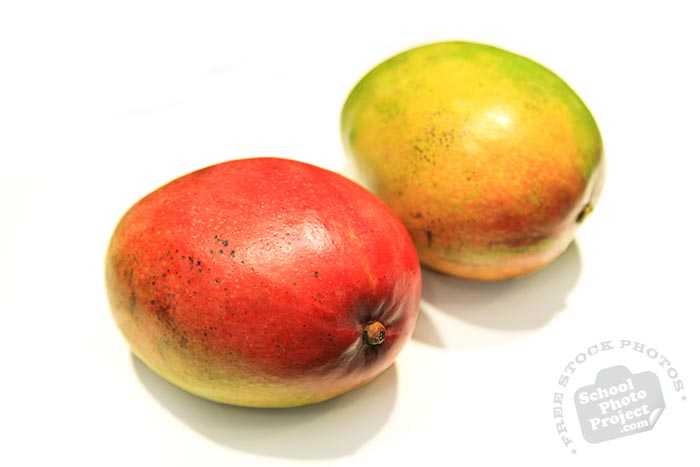 Haden mango, red mangoes, fresh mango photos, tropical fruit photo, free stock photo, free picture, free image download, stock photography, stock images, royalty-free image