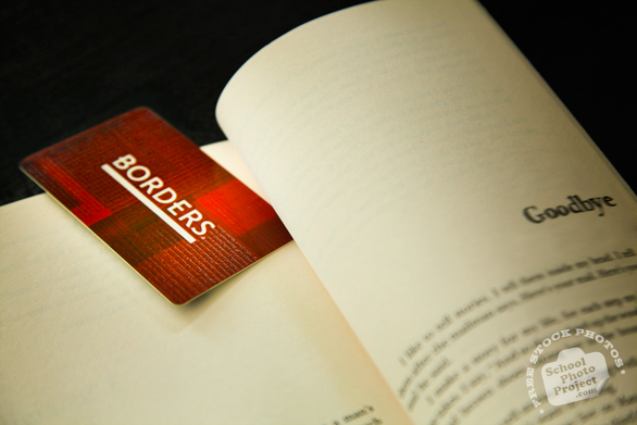 Borders, Borders Bookstore, Borders card, gift card, membership card, bookmark, book, corporate identity images, free logo mark, free stock photo, free image, stock photography, royalty-free image