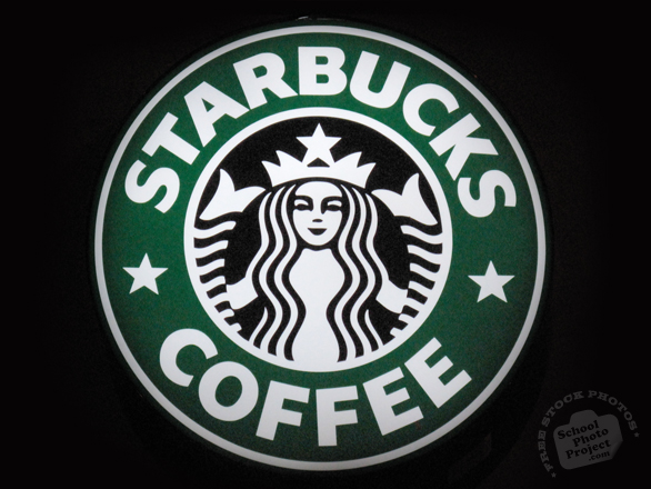 Starbucks Coffee, logo, brand, identity, free logo mark, free stock photo, free picture, stock photography, royalty-free image