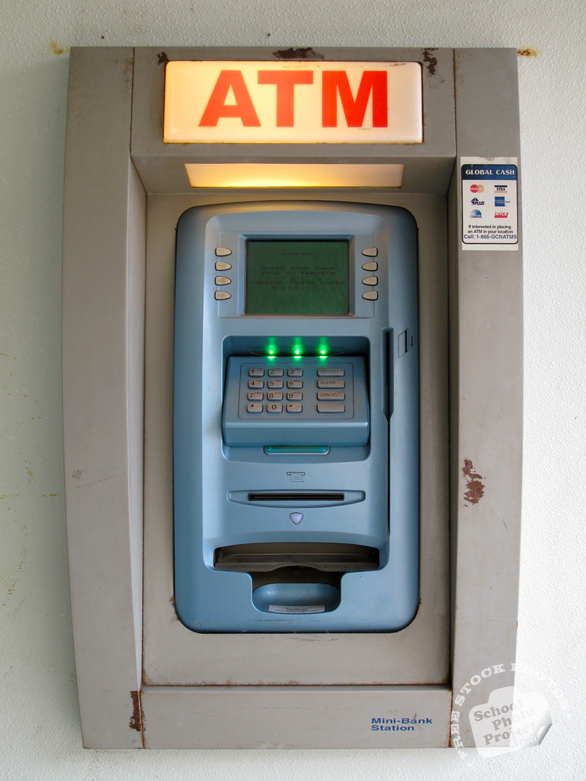 ATM, ATM machine, automated teller machine, automatic teller machine, cash machine, daily objects, daily items, stock photos, free foto, free photos, free images download, stock photography, stock images, royalty-free image