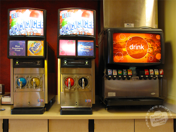 drink machine, soda machine, soft drink dispenser, soda, pop, soda fountain, fountain machine, daily objects, daily items, stock photos, free foto, free photos, free images download, stock photography, stock images, royalty-free image
