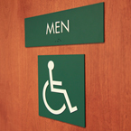 men restroom, toilet, accessible toilet, daily objects, free stock photo, picture, free images download, stock photography, royalty-free image