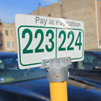parking space, parking number, pay at pay station, paid parking, parking lot, daily objects, free stock photo, picture, free images download, stock photography, royalty-free image