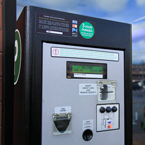 parking pay box, pay station, pay-to-park, parking meter, new parking meter, daily objects, free stock photo, picture, free images download, stock photography, royalty-free image