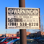 towing warning sign, car towing, unauthorized parking, customers only parking, parking lot, daily objects, free stock photo, picture, free images download, stock photography, royalty-free image