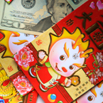 red envelope, U.S. dollar, money picture, free stock photo, royalty-free image