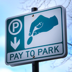 pay-to-park sign, parking sign, road sign, traffic sign, free stock photo, free picture, stock photography, royalty-free image
