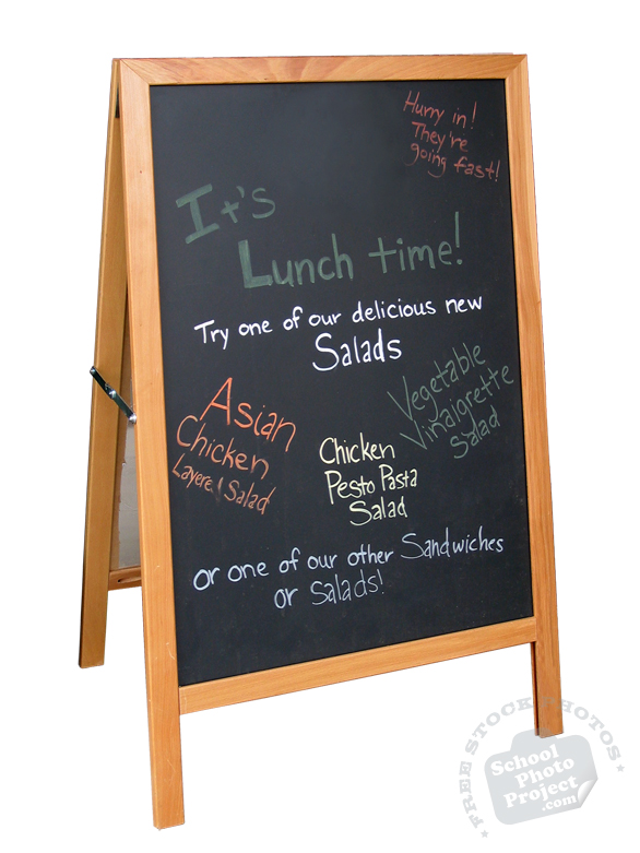 easel sign, chalkboard sign, blackboard, menu sign, food sign, info sign, restaurant sign, sign, free photo, picture, image, free images download, stock photography, stock images, royalty-free image